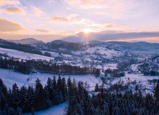 Beskidy zimą w Istebnej